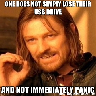 Lost USB Disk Panic